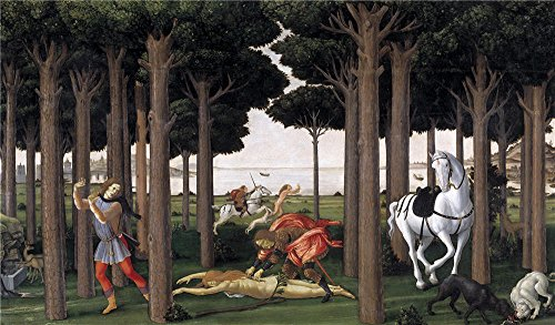 Oil Painting 'Botticelli Sandro The Story Of Nastagio Degli Onesti (II) 1483' 12 x 21 inch / 30 x 52 cm , on High Definition HD canvas prints is for - Smith Sunglasses Jaden