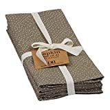 Heart of America Set of 4 Assorted Natural Dot Printed Napkin