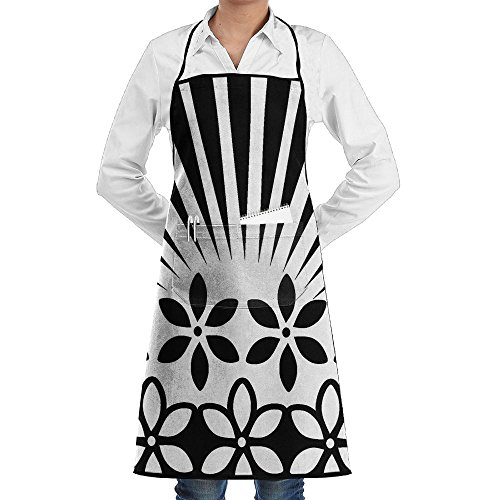 Black And White Graffiti Classic Apron Durable Tool Pockets Bib Apron Durable Goods - Heavy Duty Waxed Canvas Work Apron With Tool Pockets For Cooking,Baking,Gardening,Crafting,BBQ