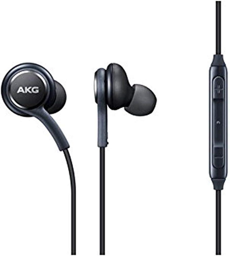 Auriculares Originales AKG [EO-IG955] Samsung, para Samsung Galaxy S8 y S8 Plus, Color Negro