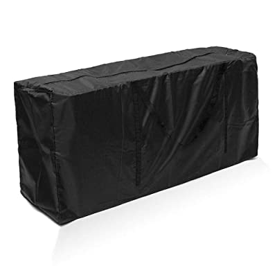 Windyus Patio Cushion Cover Outdoor Cushion Storage Bag Rectangular Protective Zippered Patio Seat Cushion Cover Bag with Zipper and Handle Durable (173 76 51cm / 68 30 20 inch, Black) : Garden & Outdoor