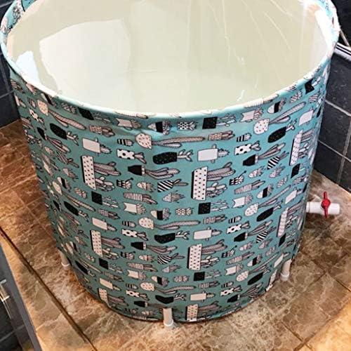 家庭用折りたたみ大人風呂樽フルボディ風呂樽ドラム風呂プラスチック風呂バスルームプラスチック風呂ギフト (Color : GREEN, Size : 65*70CM)