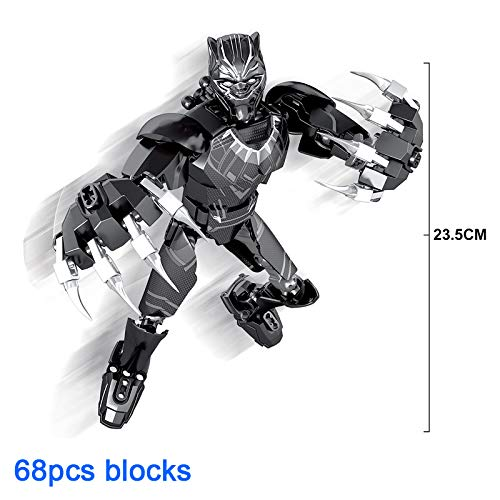 Figures - Avenger Super Hero Thanos Hulk Deadpool Spider-Man Black Panther Buildable Action Figure Building Block Toy Compatible with Lego 1 PCs ()