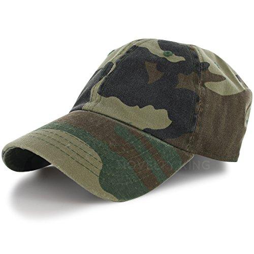 Women adjustable Camo baseball Hats(Army Green) - 9