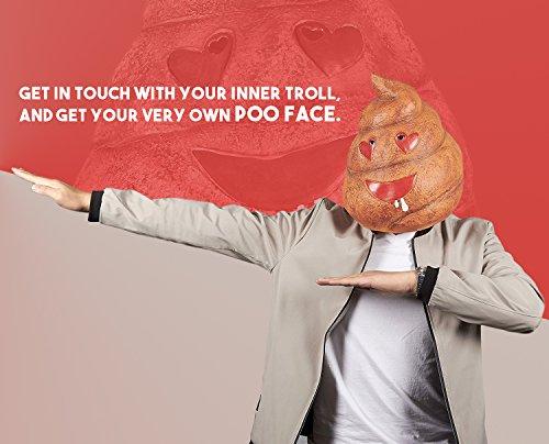 Amazon com: Poop Emoji Head Mask - Poop Mask for Halloween Costume