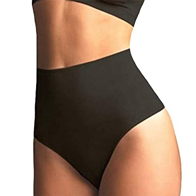 0bb1e3d475 Image Unavailable. Image not available for. Color  Women High Waist Trainer  Tummy Slim Control Body Shaper Thong G-string Butt Lifter Seamless