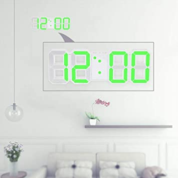 Diseño moderno Reloj digital de pared de gran tamaño con reloj de pared Único Vintage Decoración del hogar Reloj temporizador Relojes de alarma, ...