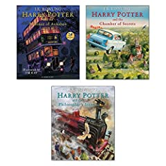 Titles in this set Harry Potter and the Philosopher's Stone Harry Potter and the Chamber of Secrets Harry Potter and the Prisoner of Azkaban