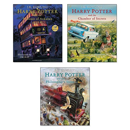 Harry Potter The Illustrated Collection J.K.Rowling 3 Books Classics NEW -