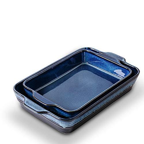 KOOV Bakeware Set, Ceramics Baking Dish Set, Rectangular Casserole Dish Set, Baking Pans, Lasagna-Pans Deep for Cooking…