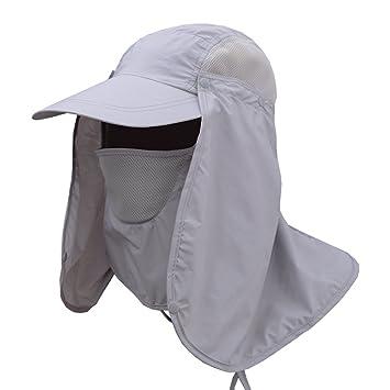 2a1dc9b5b75 Oak-Pine Men Women Multifunction Outdoor Sport Folding Hat Fully Sun  (UPF50+) Protection