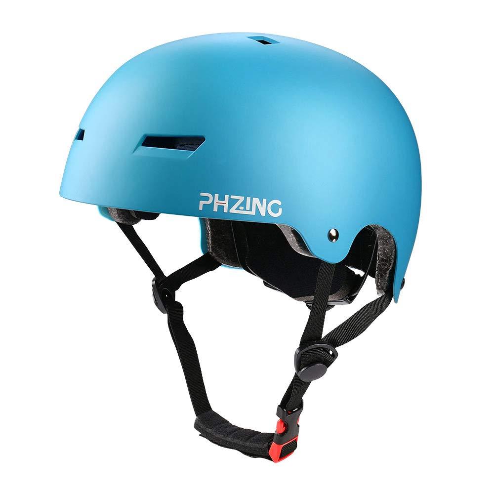 PHZING Skateboard Helmet Ideal For Urban Skateboard//Scooter skate//inline skating with adjustable headband suitable for adult//kids//youth