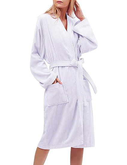 Timormode Peignoir De Bain Luxe 100 Coton Robe De Chambre