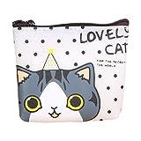 YJYDADA Wallet Holder,Women Girls Cute Cat Fashion Coin Purse Wallet Bag Change Pouch Key Holder (A)