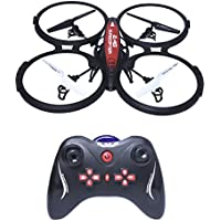 Rc Drone,DeXop 2.4G UFO Four-axis Rc Quadcopter With 0.5 MP HD Camera 6-Axis-Gyro Romote Control Drone