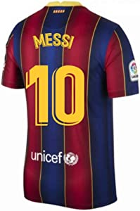 2020-2021 Barcelona Home Football Soccer T-Shirt Jersey (Lionel Messi 10)