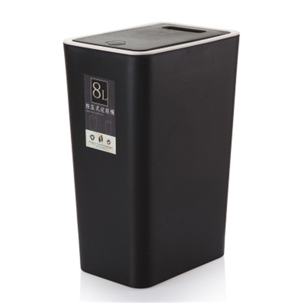 Youkara Home –  8 litro plastica push-lid touch gettacarte pattumiera per riciclaggio Eco cucina Garbage rifiuti cestino, plastica, Beige, 22*15*34cm