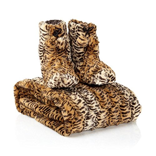 adrienne-landau-faux-fur-throw-and-booties-leopard-small