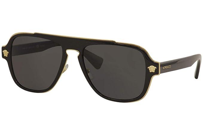 Versace 0VE2199 Gafas de sol, Black, 55 para Hombre: Amazon ...