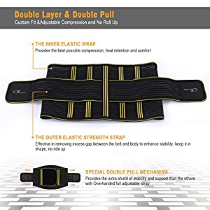 Lumbar Back Braces Supports Belt,SZ-Climax Adjustable Double Pull Waist Supports,Breathable Low Back Pain Relief Lumbar Protector,Abdominal Muscle Waist Trainer Wraps with Removable Steel Spring Stays