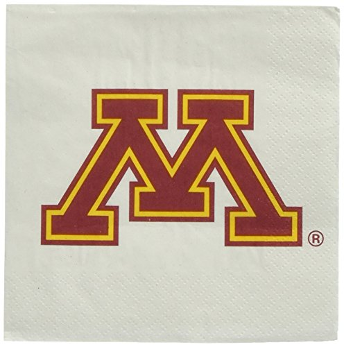 Mayflower Distributing Company 24Count University of Minnesota Beverage Napkin, Multicolor
