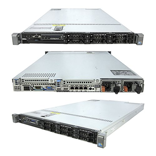 High-End Virtualization 1u Server 12-Core 128GB RAM 5.7TB SSD RAID Dell PowerEdge R610 Bezel and Rails (Certified Refurbished) by TechMike