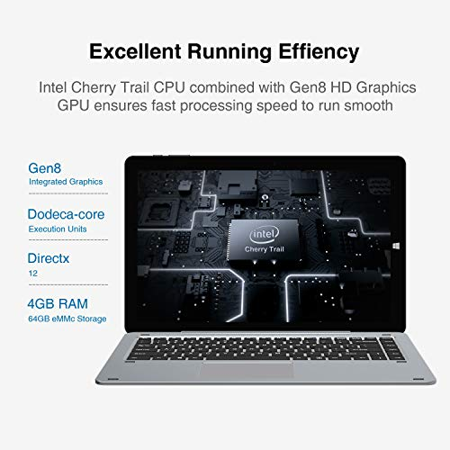 CHUWI Hi10 Air,10.1inch Tablet PC,Windows10 Intel Cherry Z8350,Quad Core 4GB RAM 64GB ROM,1920X1200 IPS Screen,Type-C,BT4.0,WiFi,2 in 1 Tablet