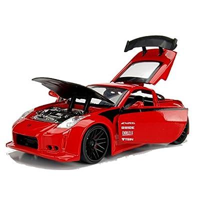 Jada 99110 2003 Nissan 350Z Red JDM Tuners 1/24 Diecast Model Car: Toys & Games