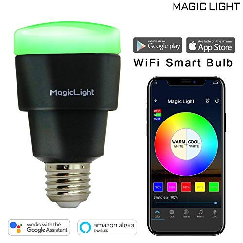 MagicLight WiFi Smart Light Bulb - Triangle Style - Dimmable Multicolored 60w Equivalent Sunset Sunrise Sleeping Night Lights - Compatible with Alexa & Google Home Assistant by MagicLight (Image #1)