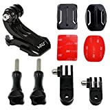 HSU Helmet Front Mount Kit for GoPro with Curved and Flat Adhesive Sticker