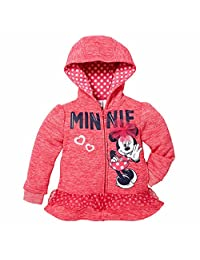 Disney Little Girls' Zip-Up Fleece Hoodie
