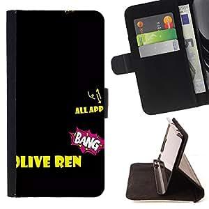 King Case - FOR HTC DESIRE 816 - one of these days - Prima caja de la PU billetera de cuero con ranuras para tarjetas, efectivo Compartimiento desmontable y correa para la mu?eca