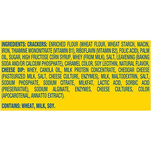Handi-Snacks RITZ Crackers and Cheese Dip Snack Packs, 4 Boxes of 12 Snack Packs (48 Total Packs)