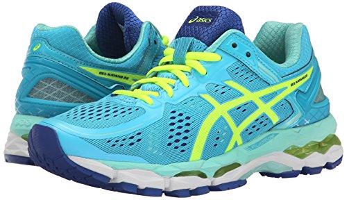 ASICS Women's Gel Kayano 22 Running Shoe, Ice Blue/Flash Yellow/Blue, 8 M US by ASICS (Image #6)