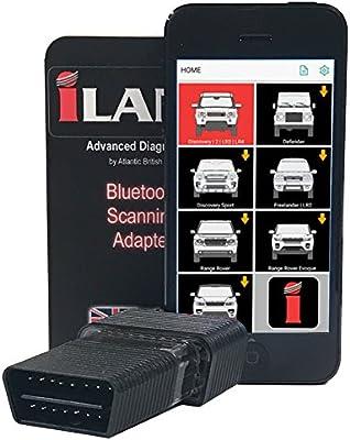 Iland Smartphone de diagnóstico escáner herramienta con Bluetooth adaptador para Land Rover vehículos: Amazon.es: Coche y moto