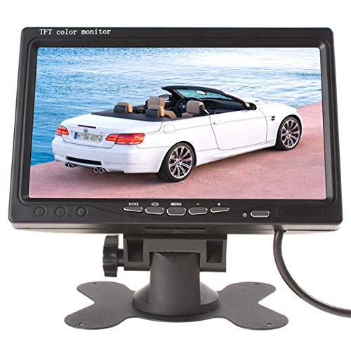 SHZJZ Navigation Display Wide Voltage 9-36V car HD Display Reversing Image 7 inch Display (Dslr Program Monitor)