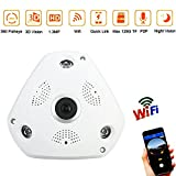 JUHAICH Wireless Home Network Camera Monitoring System VR 360 ° Panoramic 3D Fish-eye Infrared , With Power Supply 1.3M 960P