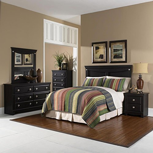 Cambridge 98104A5Q1-DP Southampton 5 Piece Suite: Queen Bed Headboard, Dresser, Mirror, Chest, Nightstand Bedroom Sets Indoor Furniture, Brown