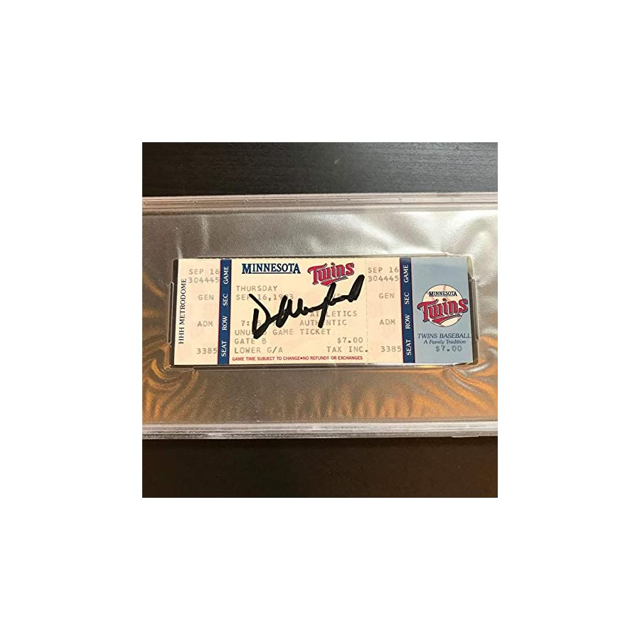Dave Winfield 3000th Hit Signed Ticket September 16, 1993 PSA DNA COA Auto
