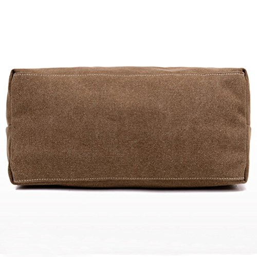 Honeymall Weinlese Streifen Hobo Tasche Leinwand Einkaufstasche Handtasche(Rot) Grau