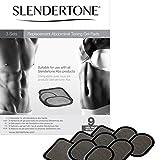 Slendertone Replacement Gel Pads for All Slendertone Ab Belts - 3 Sets (9 Gel Pads)