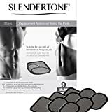 Slendertone Replacement Gel Pads for All Abdominal Belts, 3 Sets (9 Gel Pads)