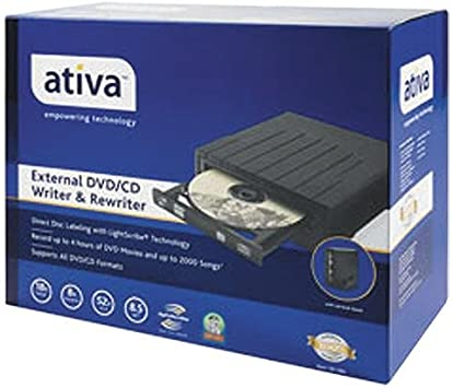 Ativa External USB 2.0 DVD/±RW Drive With LightScribe Technology