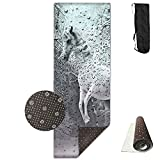 Unisex Horse Running In The Rainforest Custom Printing Yoga Mats With Carrying Bag