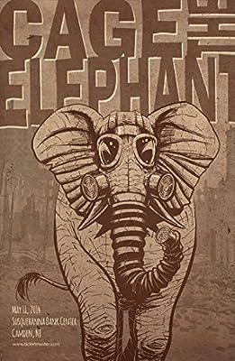 MOTIVATION4U Cage The Elephant,an American Rock Band, Matt Shultz, Brad Shultz, Nick Bockrath, Matthan Minster, Daniel Tichenor, Jared Champion 12 X 18 inch Poster