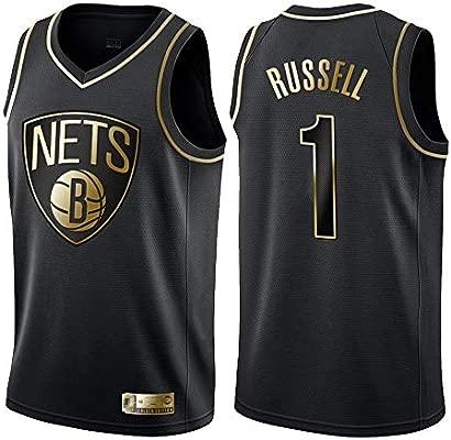 OLIS Hombre Ropa de Baloncesto NBA Brooklyn Nets 1# Russell Jersey Camiseta de Baloncesto da Bordado