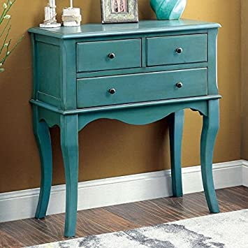 Amazoncom Eloisa Vintage Style 3 Drawer Hallway Table Antique