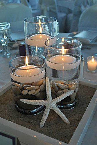 """East End Acres™ 3"""" Floating White Candles (Pack of 6)"""