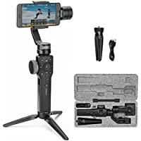 Zhiyun Smooth 4 3 Axis Handheld Gimbal Stabilizer For Smartphone,Instant Scene Transition,Focus Pull/Zoom Capability,Object Tracking,Phonego Mode,Timelapse Expert,12H Runtime/Two Way Charging(Black)