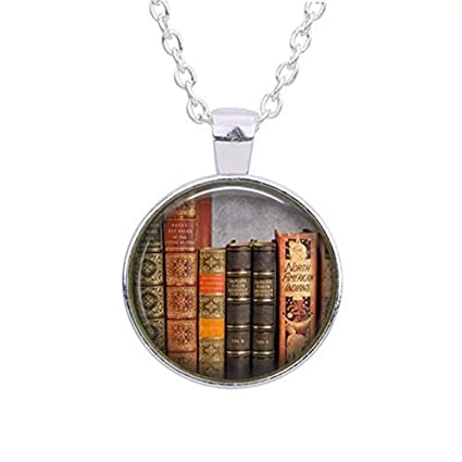 5dacf94fcac Amazon.com  Library Book Necklace